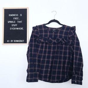 ☀️• Ruffle Button Down Shirt •